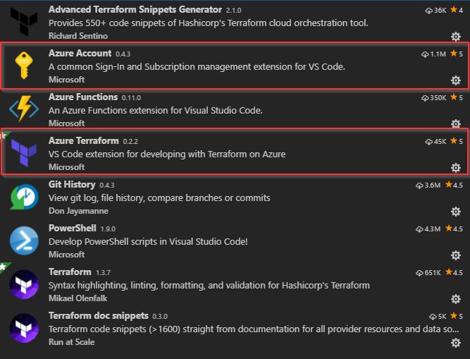Terraform with Visual Studio Code for Azure – BLOG PROnICT NET